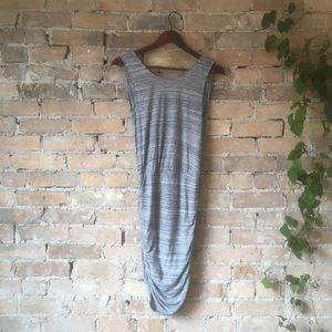 Grey Dynamite Dress with V Back detail